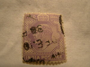 India Stamp 1902 09 Scott 63 A35 Purple Edward Two Anna