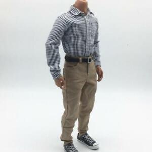 Dark Blue Denim Jeans Pants w//Belt for 12/'/' TTL BBI Action Figure Male Body