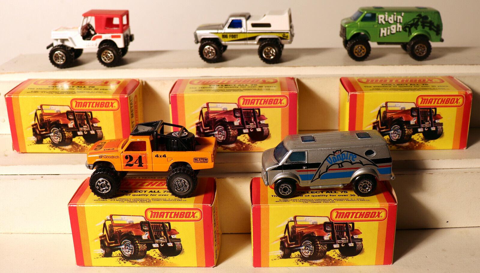 orden en línea DTE 5 Yel Yel Yel Caja Lesney Matchbox súperfast Rojo 20 22 44, 57, 68 camión van vanpire  preferente