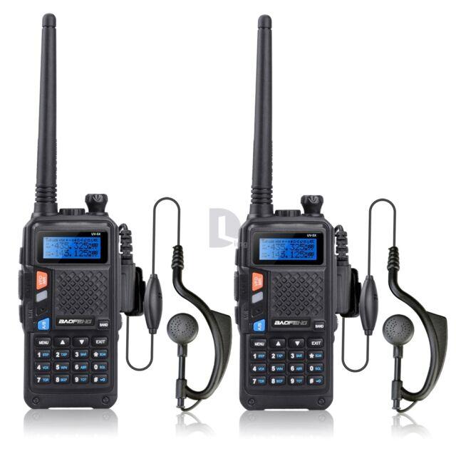 2PCS BAOFENG UV-5X Dual Band Two-Way Radio US SHIPPING UHF+VHF Exclusive