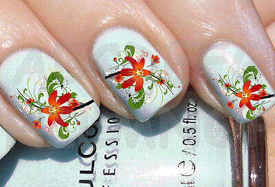 60x Water decals GIGLIO FIORI UNGHIE NAIL ADESIVI FLOWERS LILY TRANSFER STICKERS