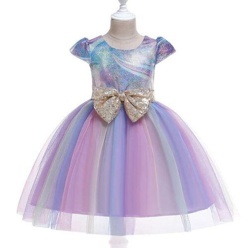 Party Tutu Girl Baby Wedding Dress Princess Bridesmaid Kid Formal Flower Dresses