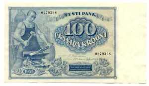 Estonia-Estonian-100-Krooni-1935-XF