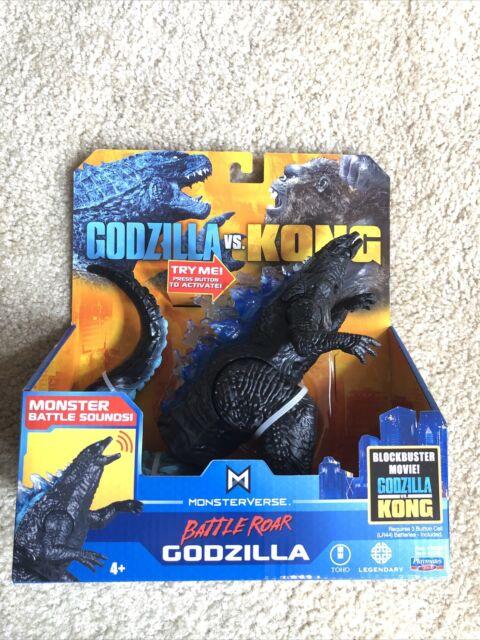 "Playmates MonsterVerse Godzilla vs Kong BATTLE ROAR GODZILLA 7"" Action Figure"