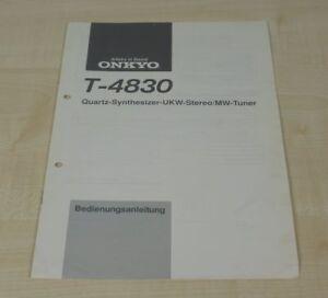 Onkyo T-4830 original Bedienungsanleitung Deutsch (2)