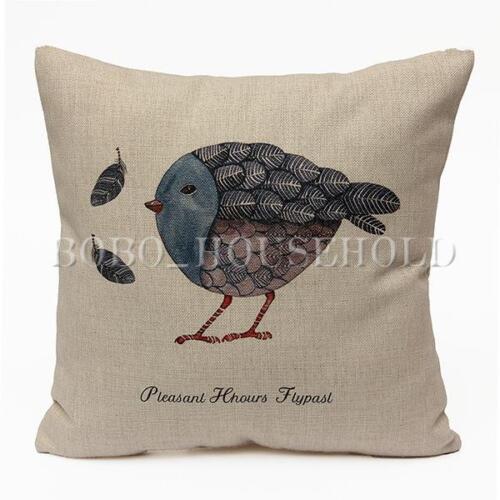 New Vintage Pillow Case Home Decor Cotton Linen  Sofa Waist Throw Cushion Cover
