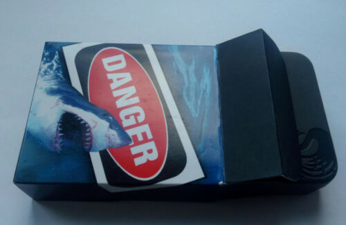 2000 Tuvalu 1 dollar  2011 Great White Shark  DANGER Silver 1 oz  Box mint