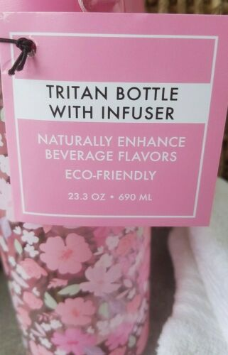TRITAN Infusion Water Bottle Fruit Herb Carbonated Water Plastic 23oz USA SELLER