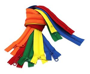 YKK-4-5-Handbag-Zippers-Extra-Long-Pull-Slider-Closed-Bottom-Assortment-5pcs