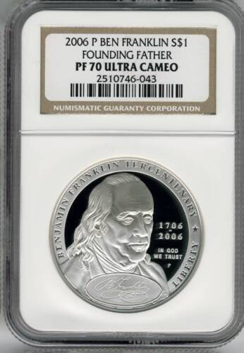 2006-P Ben Franklin Founding Father S$1 NGC PF70 Ultra