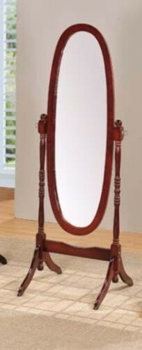 Brand New 59/'/'H Vintage Classic WOOD CHEVAL MIRROR in CHERRY Color ASDI