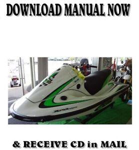 Kawasaki 1200 STX-R  Jet Ski JT1200-A1 factory repair shop service manual on CD