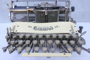 Antique Typewriter Machine  Hammond 12 1905 Working Typewriter man cave