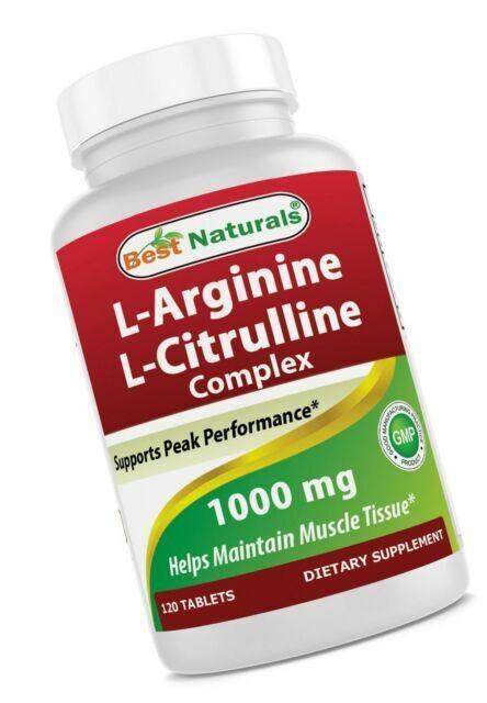 Best Naturals Arginine Citruline Complex 1000 Mg 120 Tablets For Sale Online Ebay