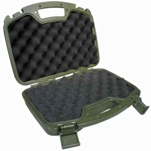 MFH Pistolen Koffer Kunststoff Koffer groß abschließbar oliv 33,5 x 27 x 8,7 cm