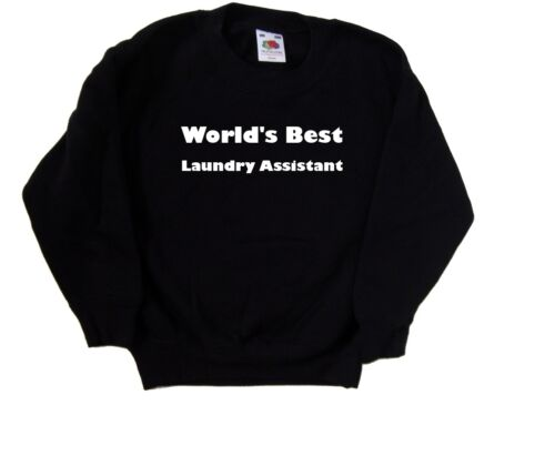 World/'s Best Laundry Assistant Kids Sweatshirt