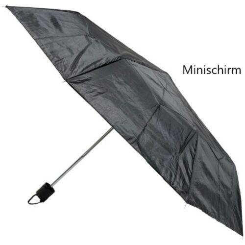 Mini Regenschirm Taschenschirm Schwarz Faltbar Damen Herren Kinderschirm Schirm
