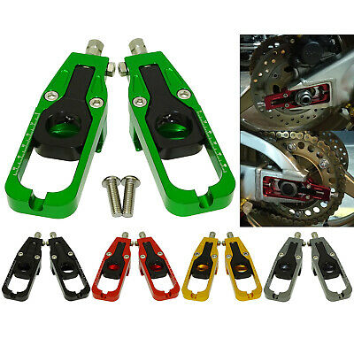 Rear Wheel Chain Adjusters Tensioner For KAWASAKI Ninja ZX 636 6R ZX6R 2005-2020