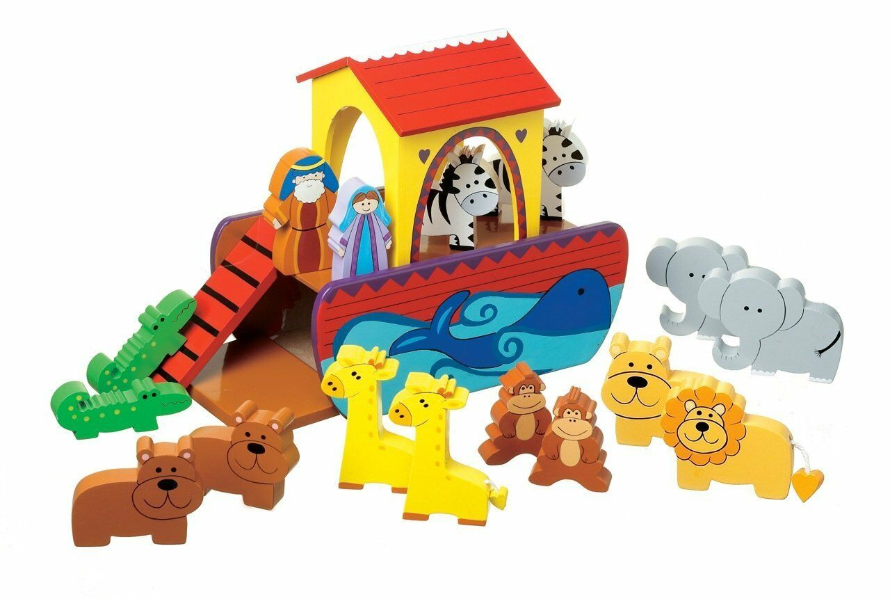 New in Box orange Tree Toys Small Noah's Ark Playset