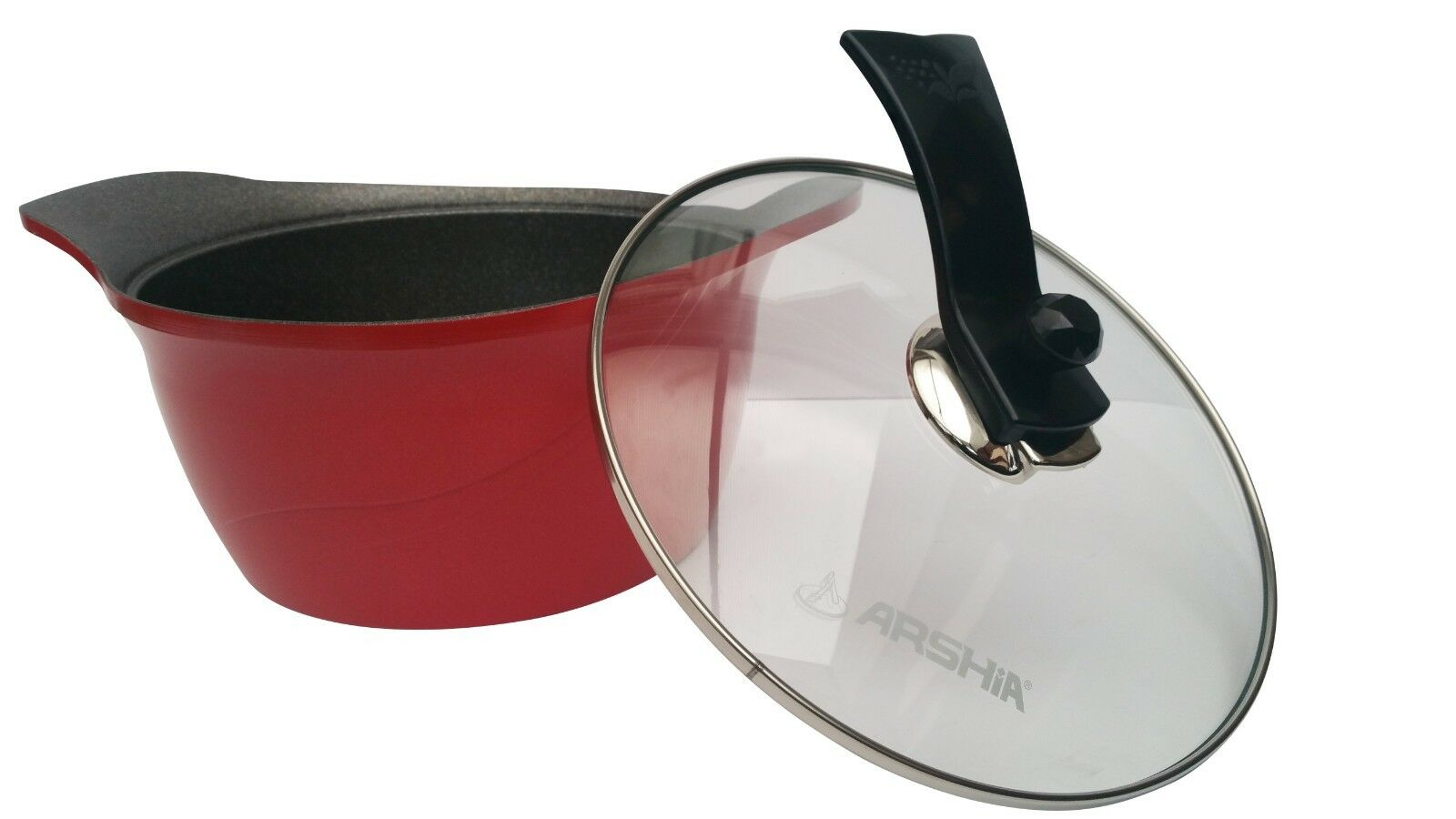 Brand New Granite cookware 4 set with a a a stainless steel glass Lid and Handle 6e1af7