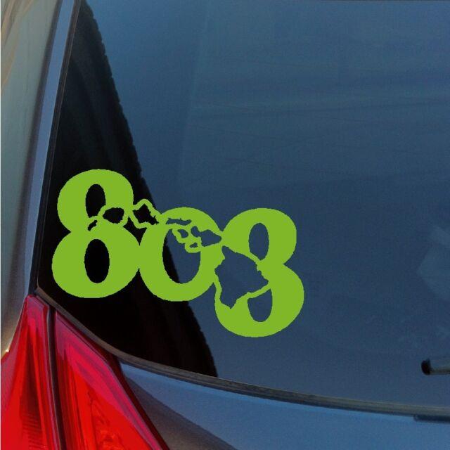 808 Hawaiian Islands vinyl sticker decal Hawaii Maui Oahu Kauai Aloha area code