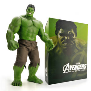 9caaf64e836b55 16.5'' Incredible Hulk Action Figur Comic Marvel Avengers Hot Reel ...