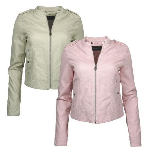 Vero Moda Damen Jacke PU Lederjacke vmalice Übergangsjacke Bikerjacke