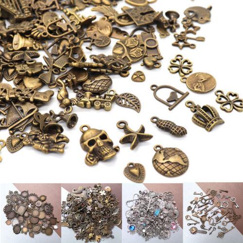 Wholesale 50g Bulk Lot Tibetan Silver Bronze Mix Charm Pendants Jewelry DIY Acc