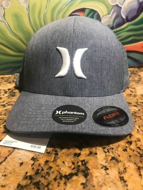 NEW MENS HURLEY FLEXFIT HAT CAP BLUE HEATHER