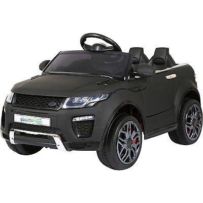12V Evo-que Style Child's Ride On Car Jeep - Matt Black