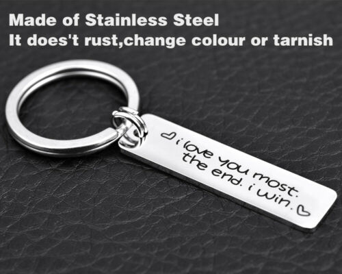 KeyChain Simple Small Love Pattern Keyring Gift Stainless Steel GIFT