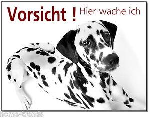 Ordentlich Dalmatiner-hund-aluminium-schild-0,5-3 Mm Dick-türschild-warnschild-hundeschild Klar Und Unverwechselbar Türschilder