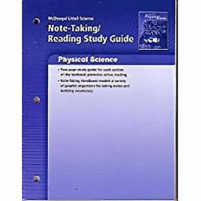 Physical Science Grades 6 8 Note Taking Reading Study Guide Mcdougal Littell Science By McDougal Littell Publishing Staff 2006 Paperback For