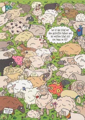 *rate&such*postkarte*wo Ist Das Schaf Mit Dem Gestreiften Pullover...*10 X 15