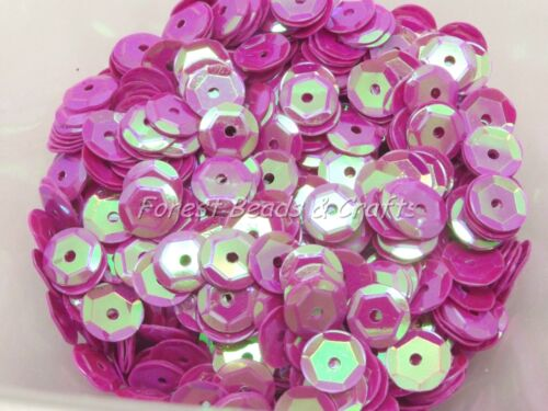 AB-Transparent-Opaque Choose Colour 15g Sequins ~ 6mm Cup Round Crafts Sewing