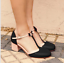 Bowknot-Women-Mid-Heels-T-strap-Round-Toe-Patchwork-Chunky-Buckle-Mary-Jane-Shoe thumbnail 9