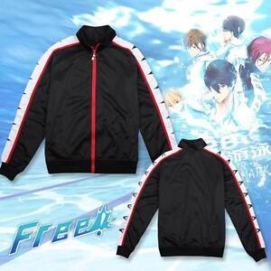 Jacket Anime Free Iwatobi Swim Club Rin Matsuoka Coat Cosplay Costume Ebay Rin was the first one i made from my free! ebay