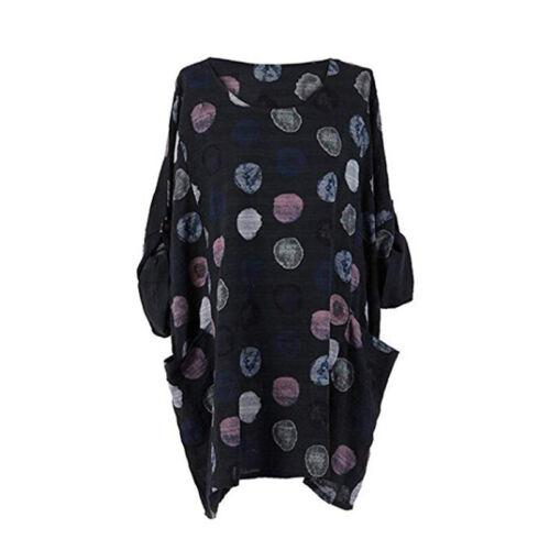 Boho Women Casual Loose Sweatshirt Jumper T-shirt Long Sleeve Blouse Tops Shirt