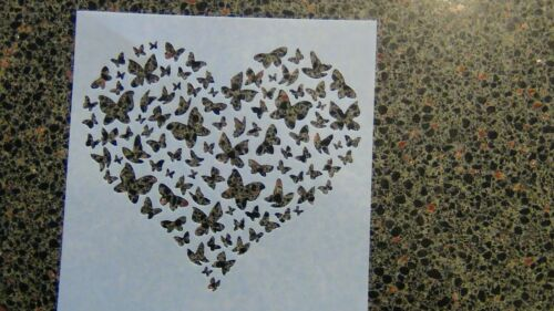 Heart stencil choose type and size puppy paw butterfly smiles