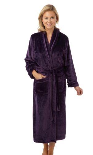 violet 10-20 JEU.. Indigo Sky bien Doux Polaire Robe de chambre//peignoir rouge turquoise