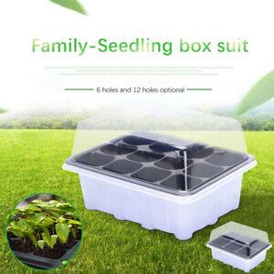 12 Hole Plant Seed Grow Box Nursery Seedling Starter Garden Yard Tray