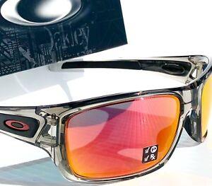 287efa7d63 NEW  Oakley TURBINE Grey Ink frame POLARIZED Ruby Iridium Lens ...