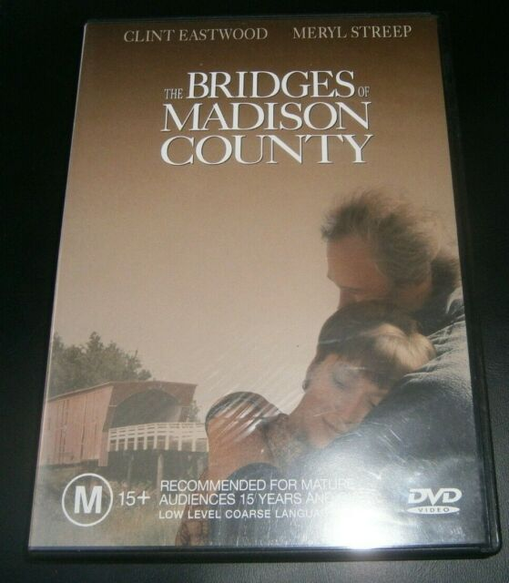 THE BRIDGES OF MADISON COUNTY (DVD, 2000) CLINT EASTWOOD -REGION 4 -FREE POSTAGE