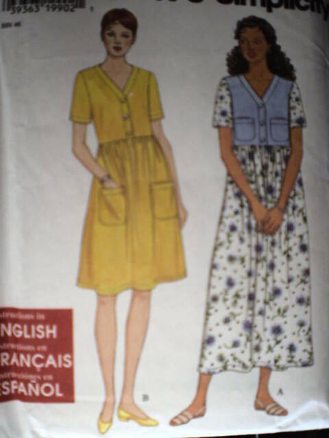 7535 Vintage Simplicity SEWING Pattern 7535 Misses EASY Dress XS-XL FF