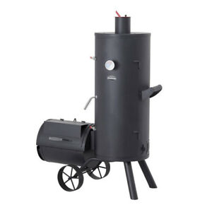 Charmate-NED-Offset-Vertical-Smoker-CM160-024-Grill-BBQ-Smoker-Texas