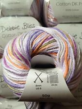 Debbie Bliss Cotton DK Prints shade 02 Lilac