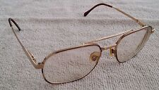 Men's Luxottica Kuxx Gilbert Gold Plated Rx Eyeglasses Frames 54/18/135