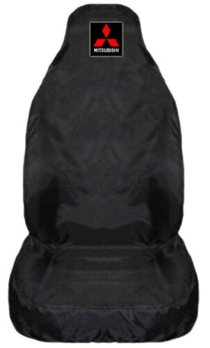 1 x Front For Mitsubishi L200 Heavy Duty Black Waterproof Car Seat Cover