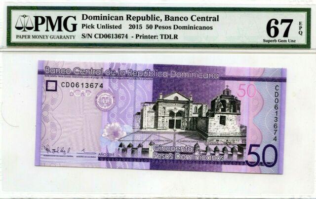 50 Pesos Dominicanos 2017 P 189 Unc