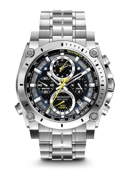 BULOVA Precisionist Chronograph Gents Watch  96B175 - RRP £650 - BRAND NEW